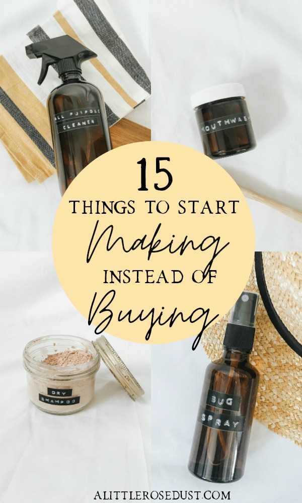 15 things to start making instead of buying