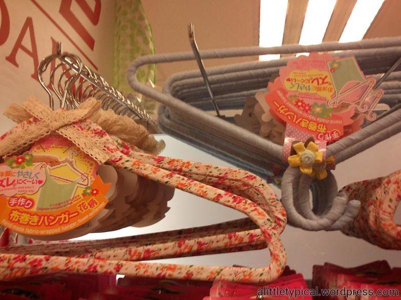 Floral clothes hangers.