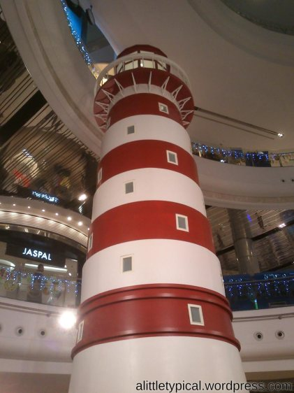 Indoor lighthouse in Terminal 21| alittletypical.wordpress.com