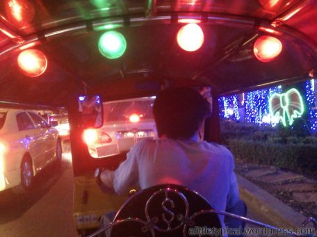Colourful lightings in tuk tuk | alittletypical.wordpress.com