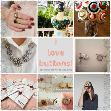 Collage of buttons diy recycle tutorials