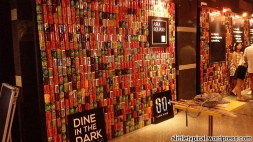 Beautiful Photobooth wall made of recycled drink cans.