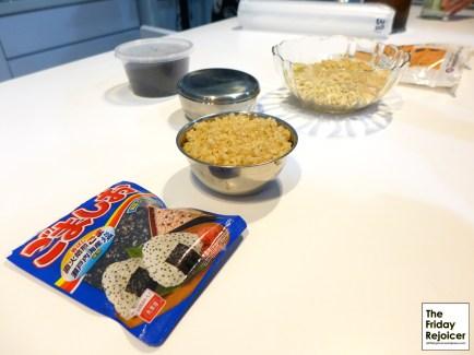 Ingredients for Black Sesame Seeds Rice