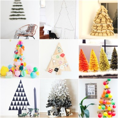 Ideas For DIY Christmas Tree Compiled by TheFridayRejoicer