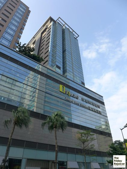 Hostel opposite is Q Square shopping mall