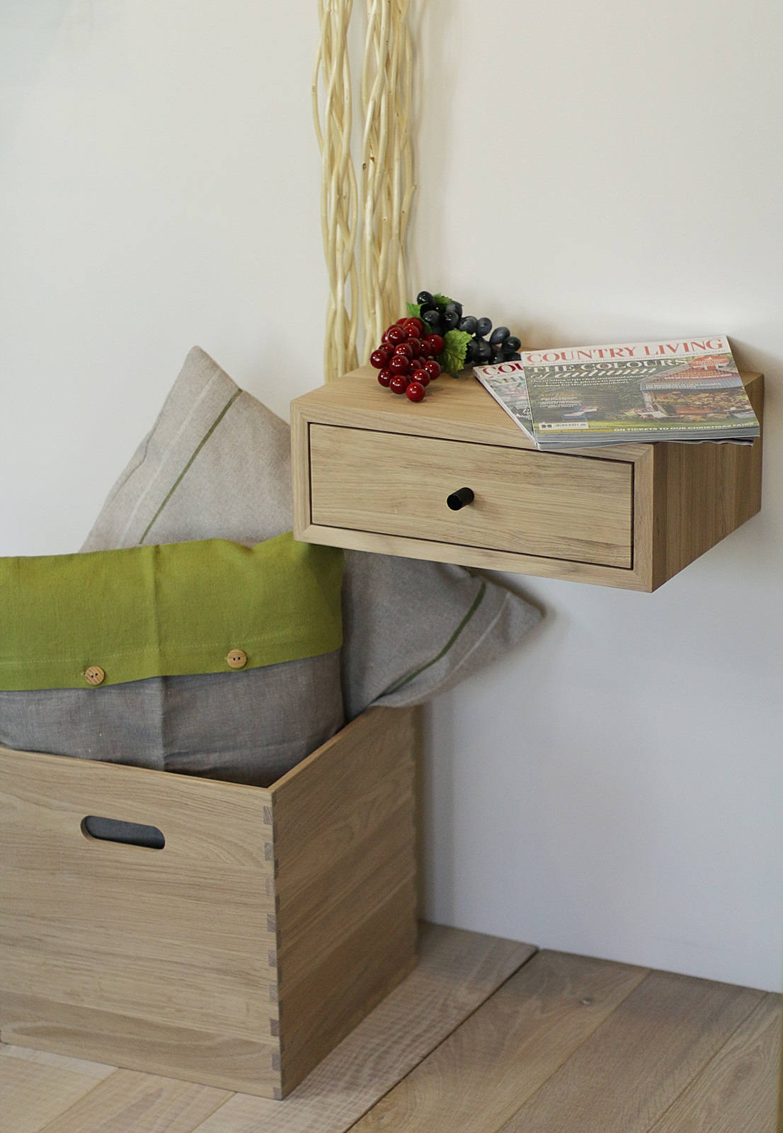 Floating Nightstand With Drawer Nord 07eh