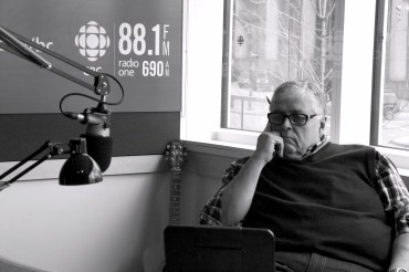Rick Cluff, host of the Early Edition at CBC. Photo by Ali Crane