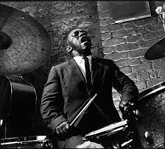 Bop Jazz Drummer B&W