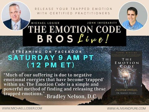 Episode #60 Can The Emotion Code help with aches and pains? With John Inverarity and Michael Losier.
