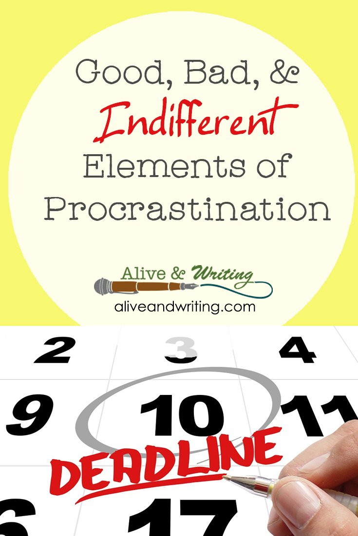 Good, Bad, & Indifferent Elements of Procrastination