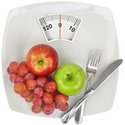 Apples, Grapes, a Fork and a Knife on Scales