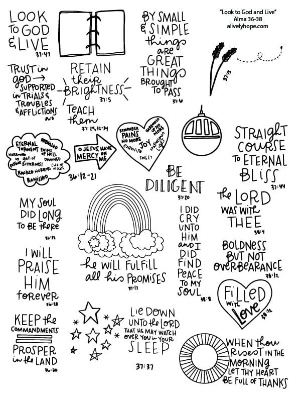 July 2020 Book of Mormon Come Follow Me Sketchnotes