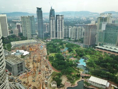 KLCC Park from above