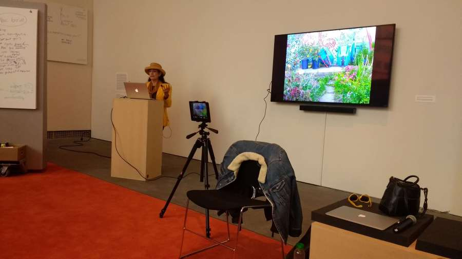 "Bonnie Ora Sherk presents this week's lecture on ""usership"" at Escuela de Arte Útil at YBCA."