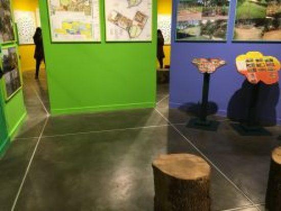 Yellow Green Wall, Bonnie Ora's installation at PAV