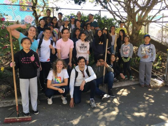 Volunteers in the Lower Garden of OMI/ Excelsior Living Library & Think Park