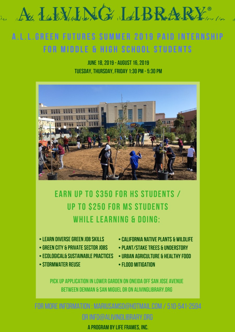 A.L.L. Green Futures Summer 2019 Paid Internship Program for Middle & High School Students