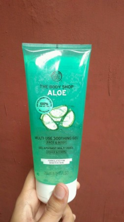 review skin care aloe vera shooting gel The body shop