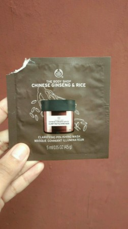 review skin care masker The body Shop