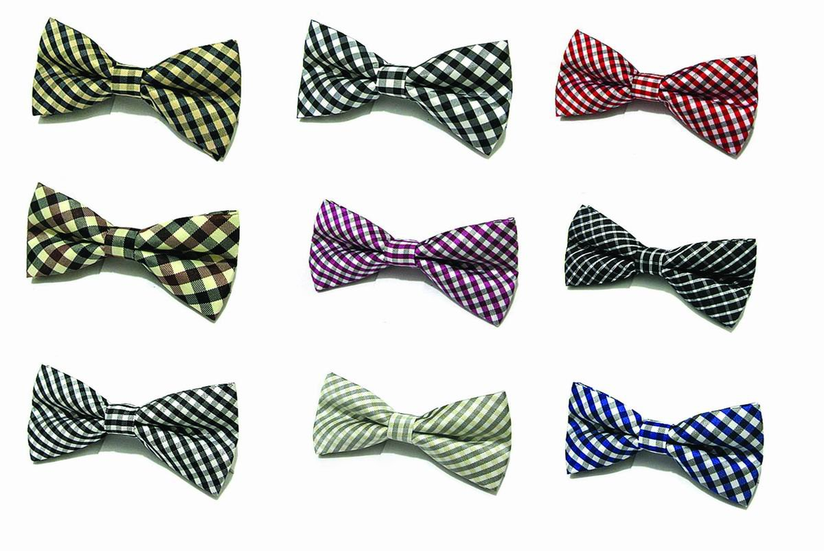 Free-Shipping-European-Business-Style-Boys-Men-Bow-Ties-New-Arrival-Colorful-Classic-Plaid-Wholesale-Price
