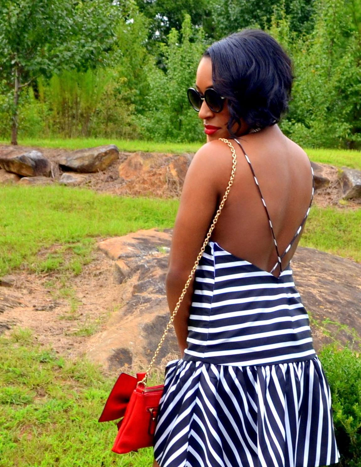 Striped Peplum + Fem Details