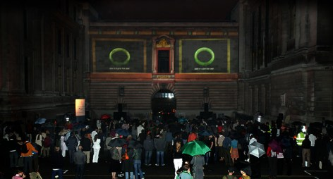 Film projections on Natural History Museum facade