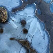 Petrified pebbles while frozen