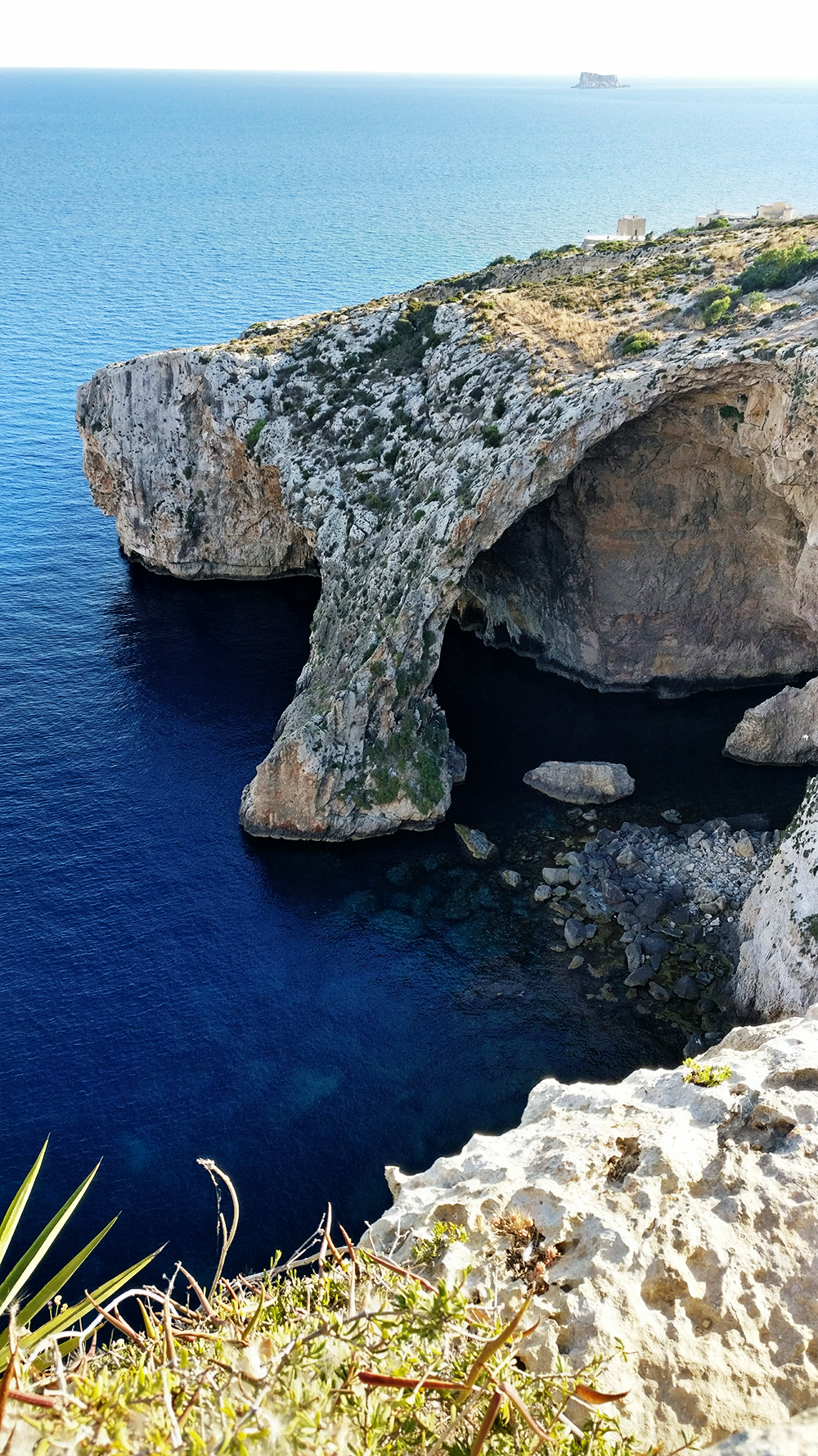 Blue Grotto Panorama - Day 1 in Malta - Blue Grotto, Hagar Qim and Mnajdra Temples