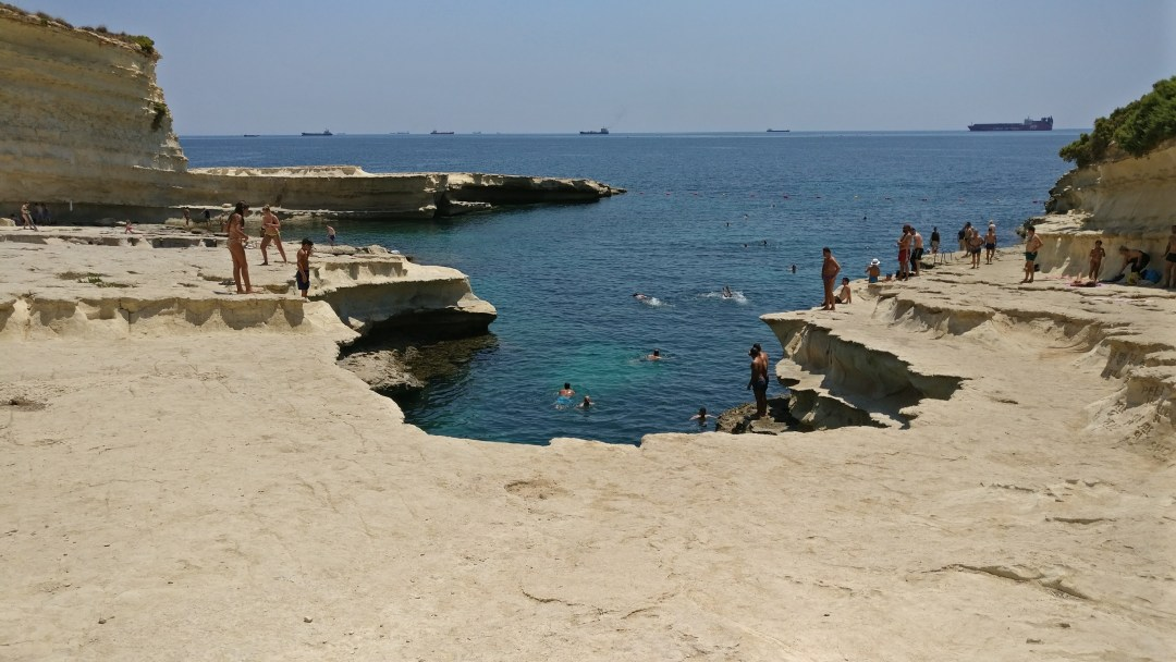 Day 2 in Malta- St Peter's Pool and the area of Valletta