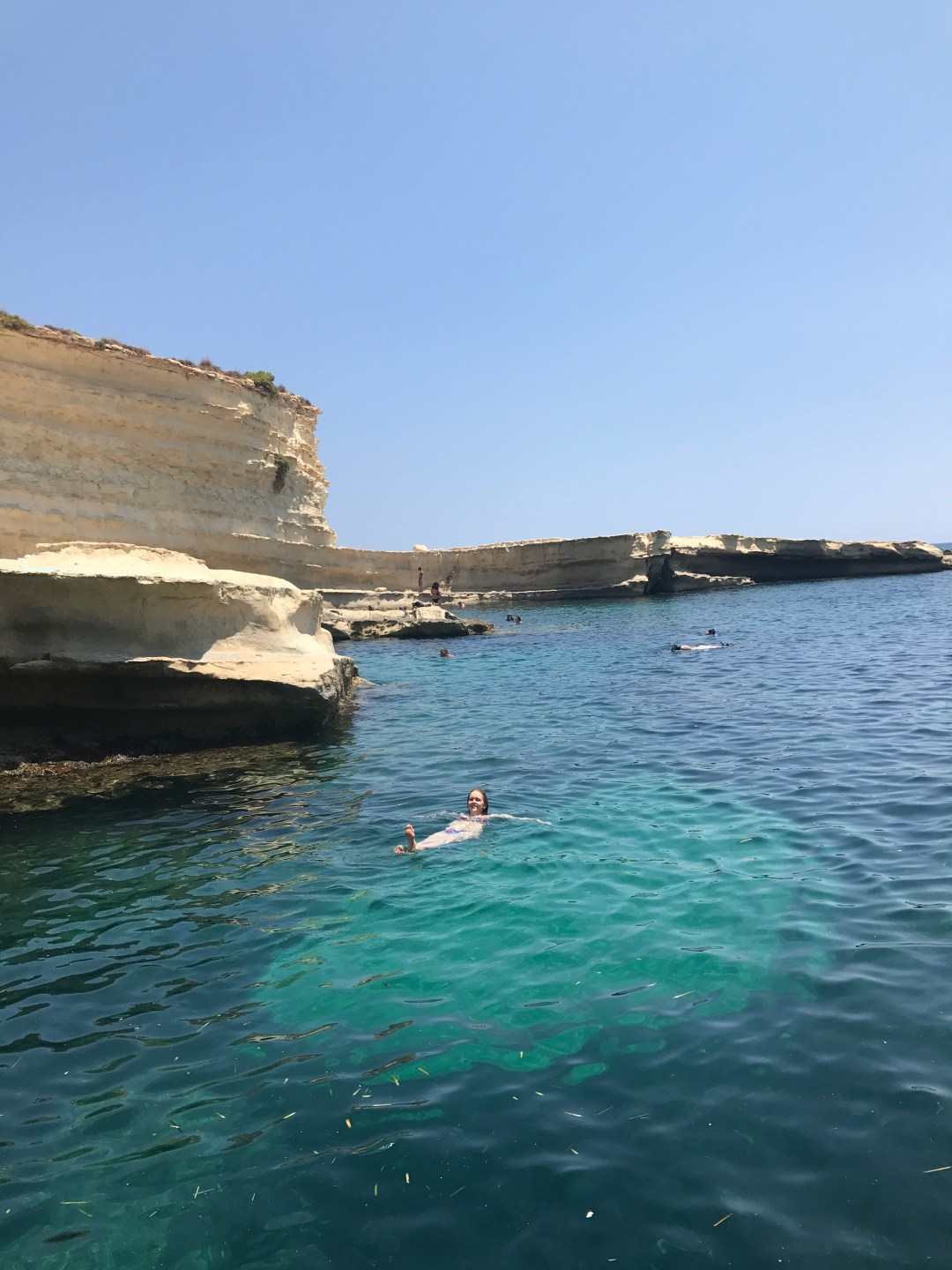 Me after jumping - Day 2 in Malta- St Peter's Pool and the area of Valletta