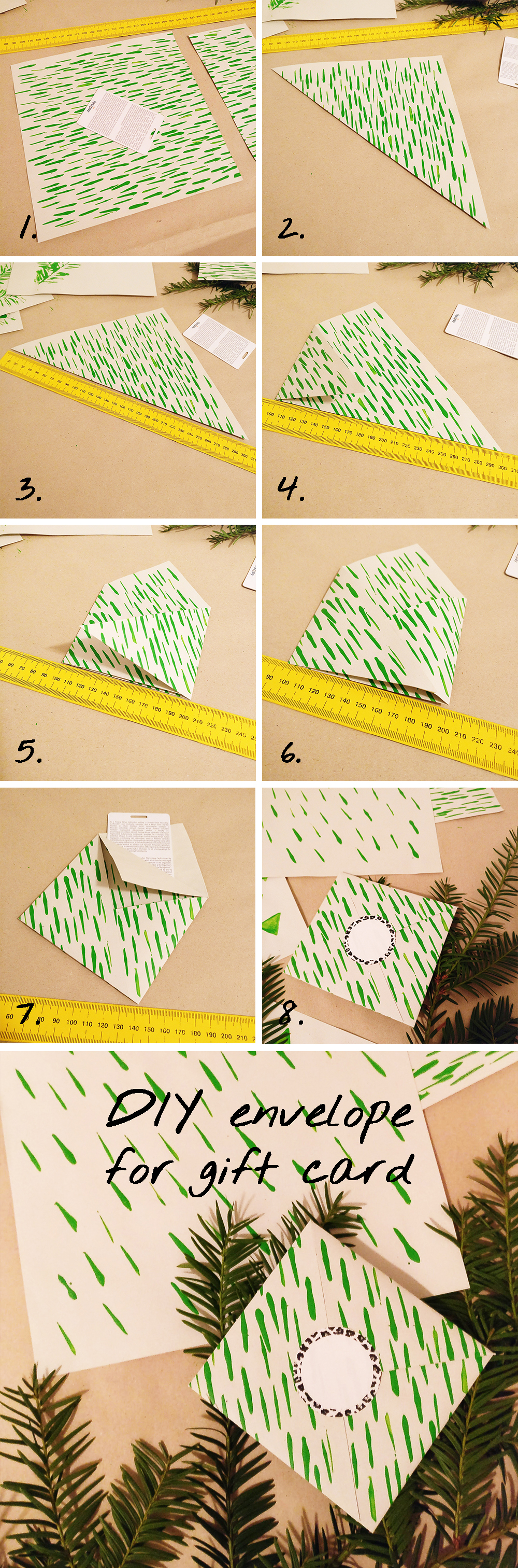 DIY Origami envelope for gift card | Aliz's Wonderland