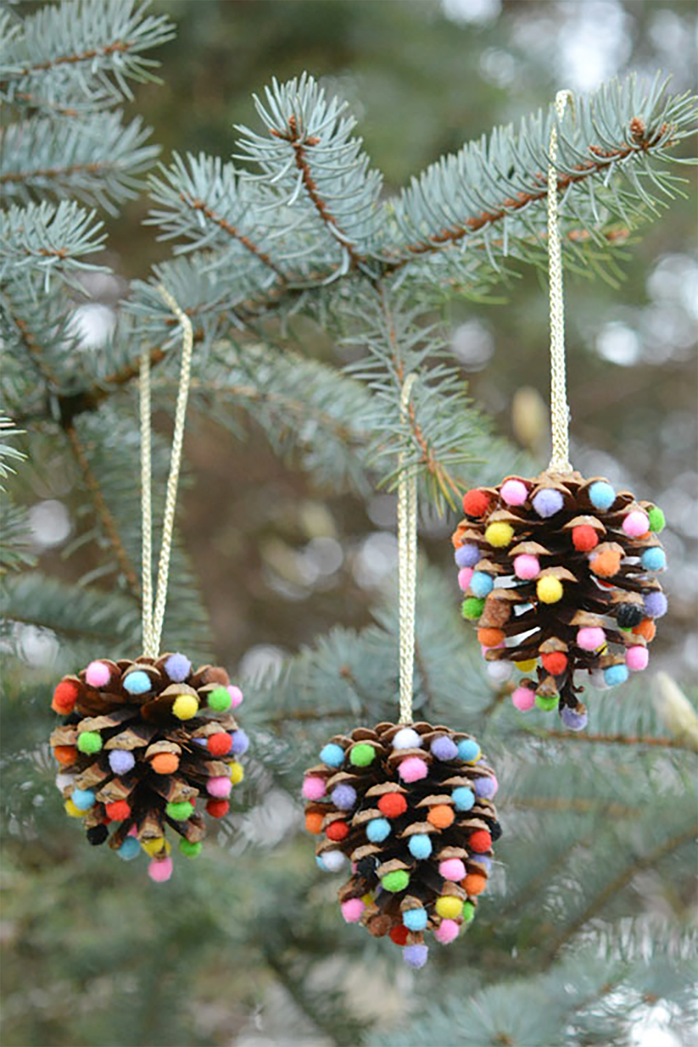 The perfect Christmas gift - DIY pom poms and pinecones | Aliz's Wonderland