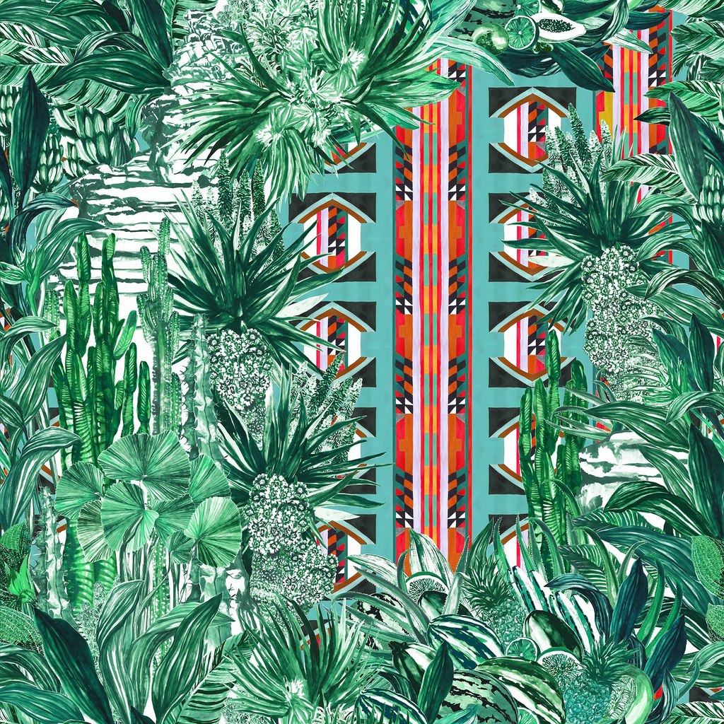 Pierre Frey Papagayo -Tropical wallpaper - Transform your home into a tropical paradise | Aliz's Wonderland