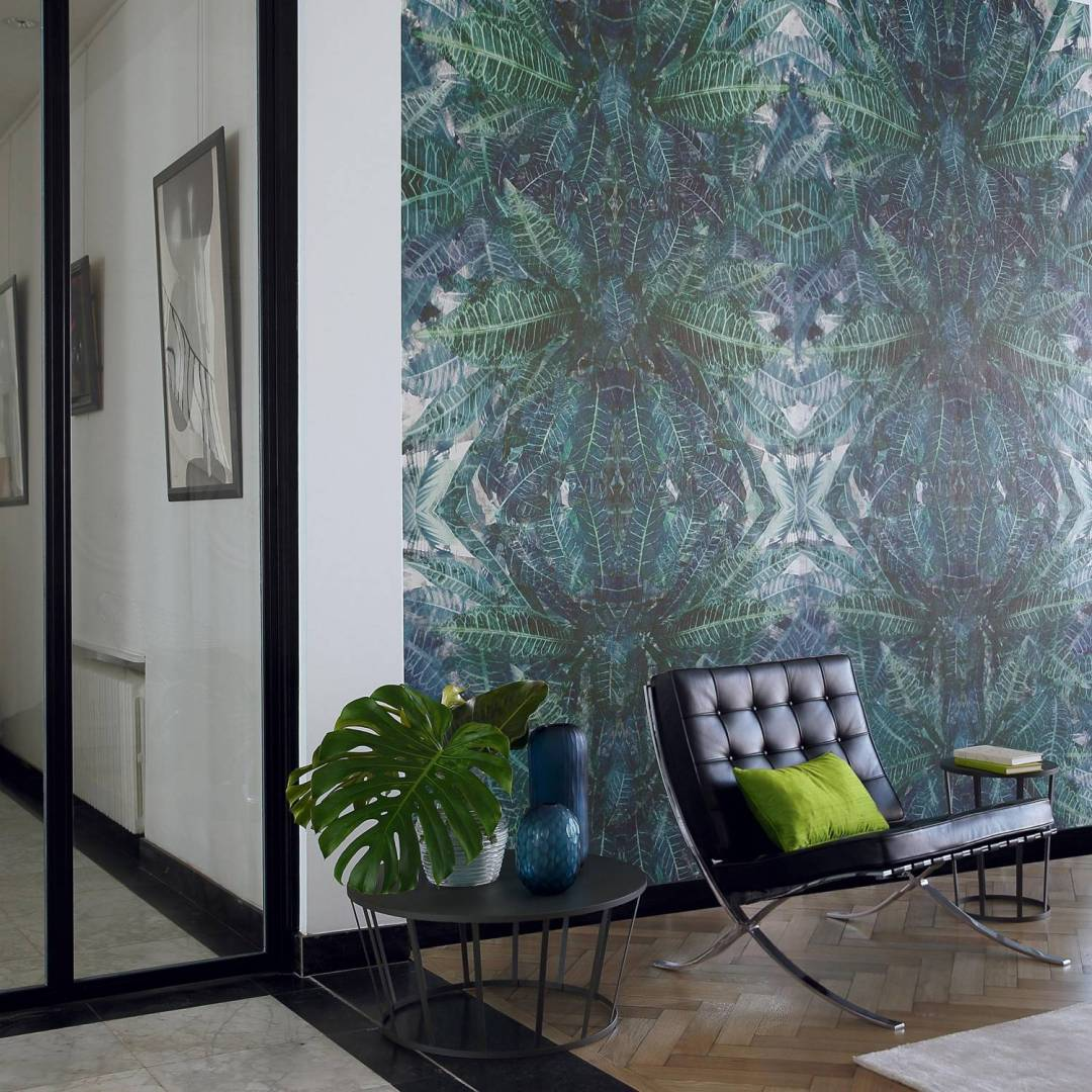 Casamance Jungle silk bleu -Tropical wallpaper - Transform your home into a tropical paradise | Aliz's Wonderland