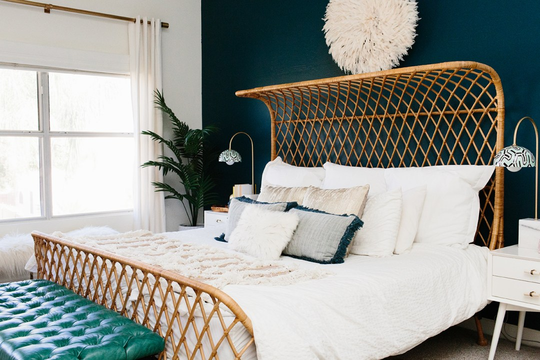 Rattan bed frame for natural look - Transform your home into a tropical paradise | Aliz's Wonderland