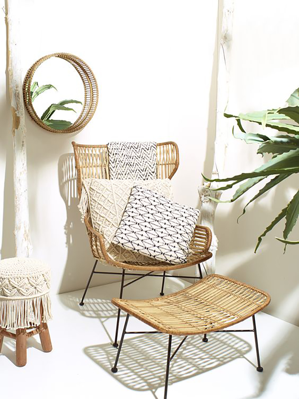Palermo chair and mirror ALS for natural look - Transform your home into a tropical paradise | Aliz's Wonderland