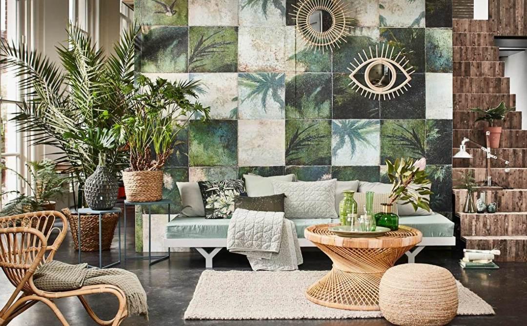 Exotic Damier -Tropical wallpaper - Transform your home into a tropical paradise | Aliz's Wonderland