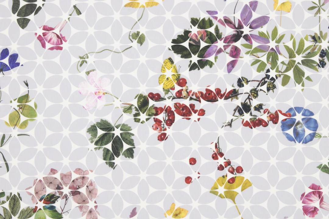 Gartenfreund fabric by Christian Fischbacher - How to give life to your interior with floral pattern? | Aliz's Wonderland
