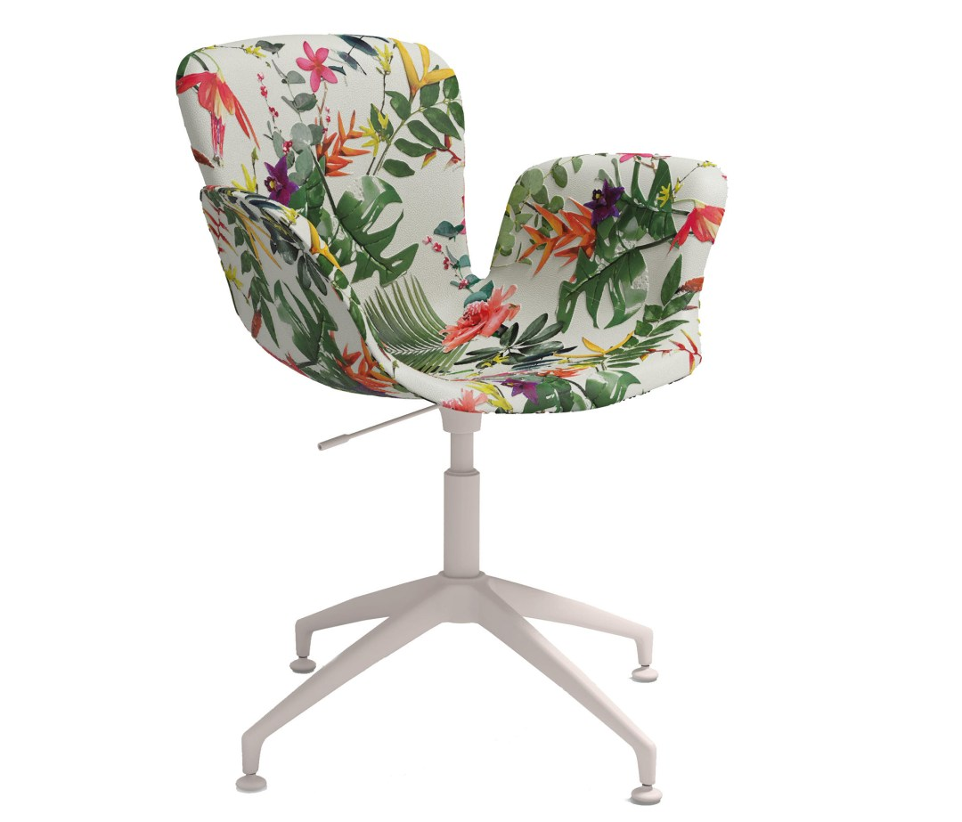 Cappellini Juli Jubilee chair by Werner Aisslinger is upholstered with floral pattern - How to give life to your interior with floral pattern? | Aliz's Wonderland