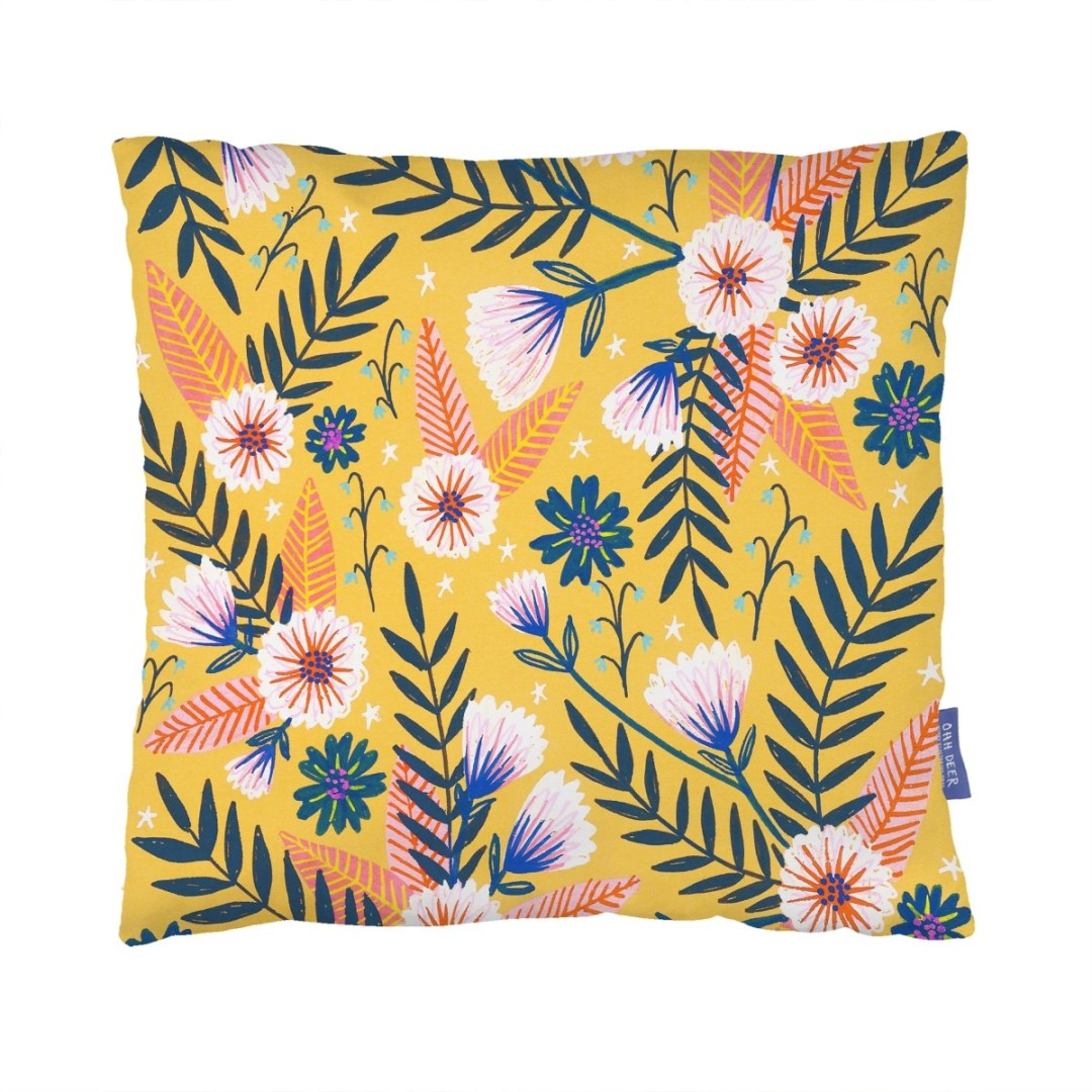 Summertime Garden cushion by Oh deer - How to give life to your interior with floral pattern? | Aliz's Wonderland