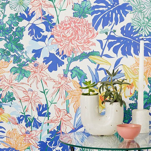 Laurel Kimono Floral Removable Wallpaper by urban outfitters - How to give life to your interior with floral pattern? | Aliz's Wonderland