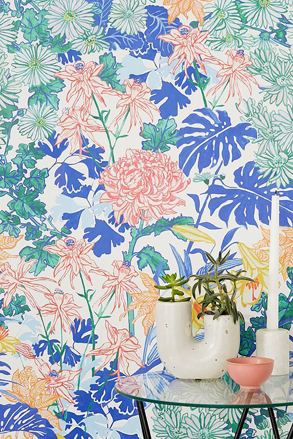 Laurel Kimono Floral Removable Wallpaper By Urban Outfitters