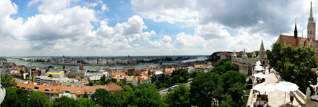 Panorama from Fisherman's Bastion, Castle District - Top 5 viewpoints in Budapest Hungary, recommended by a local | Aliz's Wonderland