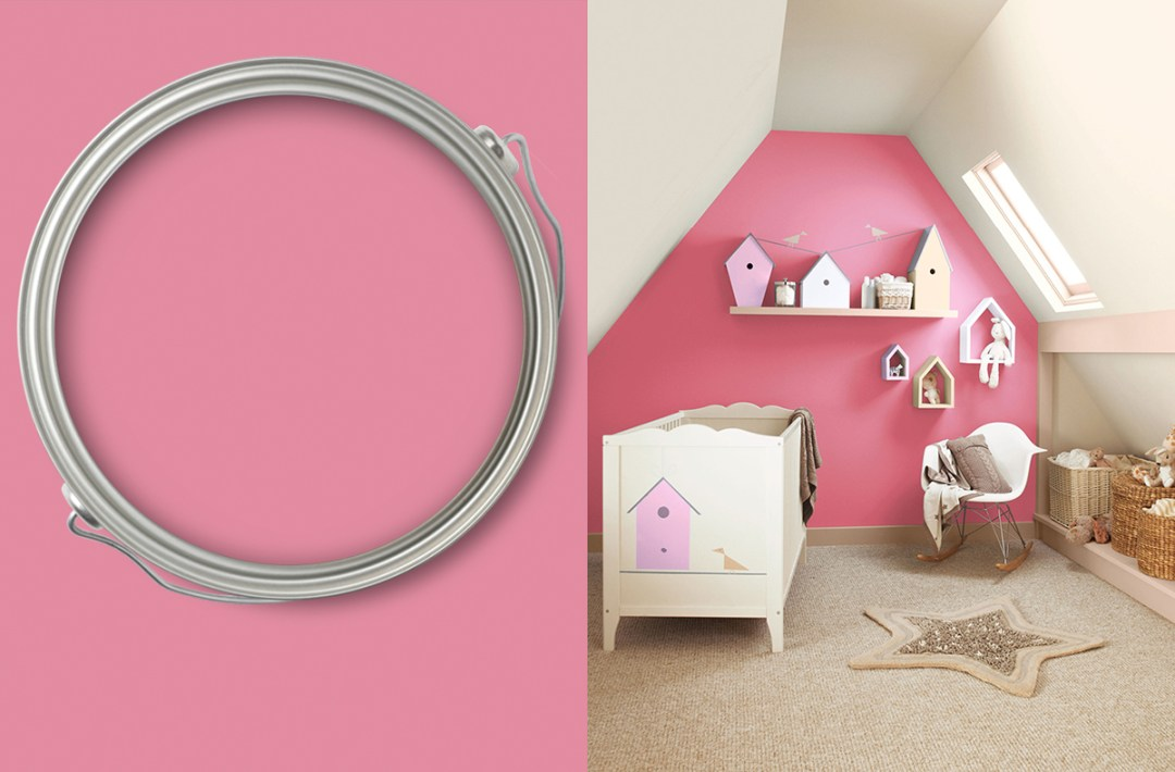 Pale pink baby bedroom with Chatterbox colour by Crown - Warm up your home with pink wall colour | Aliz's Wonderland