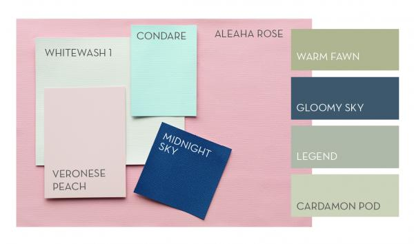 Haymes colour library - Warm up your home with pink wall colour | Aliz's Wonderland