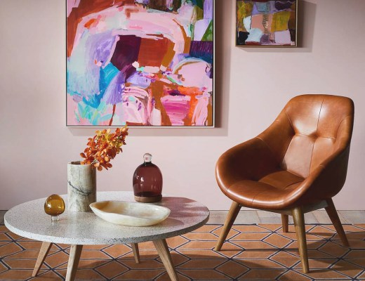 Pale pink living room by fenton & fenton - Warm up your home with pink wall colour | Aliz's Wonderland