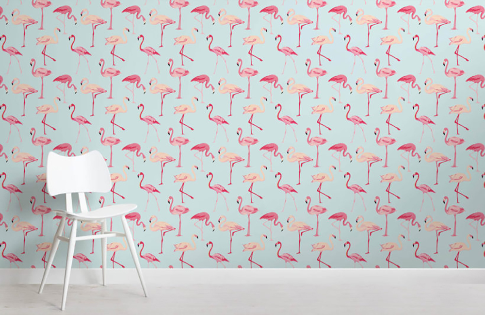 Flamingo wallpaper by MuralsWallpaper - Decorate your home with flamingos | Aliz's Wonderland