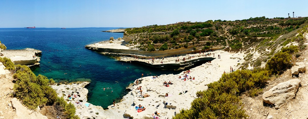 St Peter's Pool, the natural swimming pool - Best beaches in Malta | Aliz's Wonderland