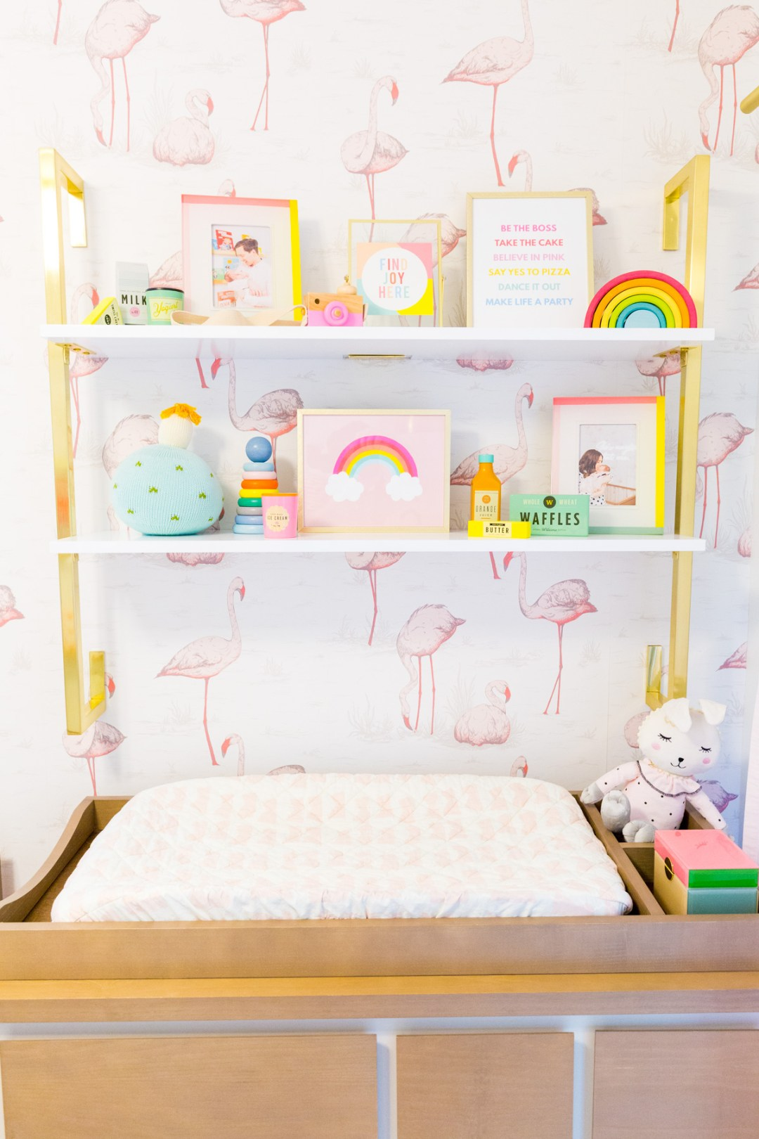 Baby's room with flamingo wallpaper - Decorate your home with flamingos | Aliz's Wonderland