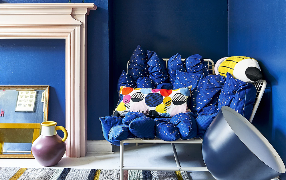 Blue is very good with yellow, pink and even orange - 35 ideas for blue wall colour in home decoration   Aliz's Wonderland